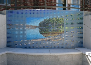 Porcupine Bay (glass mosaic)